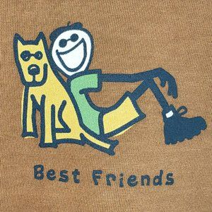 NWT LIFE IS GOOD Boys T Shirt  Best Friends Dogs
